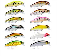 Wholesale Mixed Colors Laser Crankbaits Fishing Minnow Hard Baits cm g Wobbler Artifical Plastic Fishing Blackfish Lures