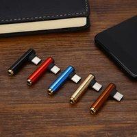 разъем для мобильных наушников оптовых-Многофункциональный USB-разъем типа C 3,5 мм Аудио-разъем для наушников Type-c 2 в 1 Разъем для адаптера для типа-c Мобильный аудио кабель для передачи данных Разъем для наушников