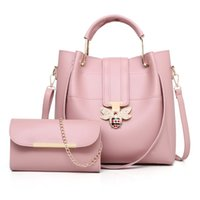 Wholesale party pink clutches for sale - Group buy PU Leather Handbag Women Messenger Crossbody Small Bags Fashion Lock Female Evening Party Clutches Bag Set