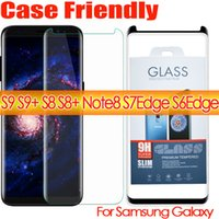 Wholesale Matte Glasses - s9 s9plus note8 case friendly 3d curved tempered glass phone screen protector For Samsug Galaxy s8 s8 plus s7edge S6Edge case version glass