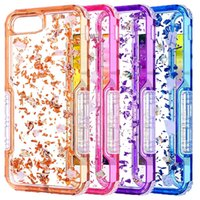 Wholesale bling defender iphone cases - For Iphone X Defender Case Luxury Bling Glitter Soft TPU Hard PC Back Cover Phone Case for Iphone X 8 8plus Samsung Note 9