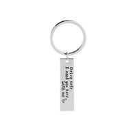 Wholesale metal lovers online - drive safe i need you here with me key chains statement car key ring for lover husband car key finder heart keyrings for driver