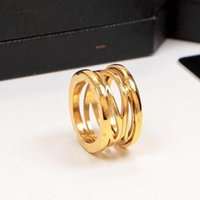 Wholesale ring explosion resale online - 2018 Hot explosion models spring spiral ring jewelry men and women hollow ring titanium steel ring