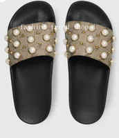 Wholesale good pearl - 2018 pearl slippers good qualit Sandal men &Women Classical Slippers soft sole Sandals summer holiday beach hotel slippers fashion trend