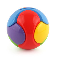 Wholesale money piggy bank toys - Building Block Ball 3D Round Colorful DIY Assembling Money Box Children Puzzle Creative Toys Gifts New Style Piggy Bank 2 2xd Z