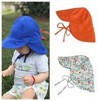 Wholesale boys sun caps - Wholesale- 14 styles New Arrival Outdoor Ultraviolet-proof Hat Child Summer Sun Hat Kids polyester Caps For Kids Boy Girls Sun-proof Hat