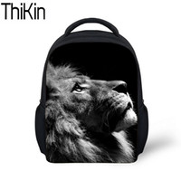 Wholesale backpack patterns for kids for sale - Group buy THIKIN Baby Mini School Bags for Kids Animal Lion Pattern Printing Kindergarten Backpack Boys Cool Schoolbag Backpacks Satchel