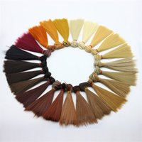 Wholesale hair straight girl resale online - Straight Doll Hair cm High Temperature Wire Wigs Multi Color Short One Piece For Diy Material New Arrive rk Z