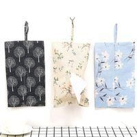 Wholesale cotton paper flowers - Cotton Linen Environmental Protection Flowers Soft Comfortable Cloth Tissue Paper Towel Box Paper Towel Storage Supplies Gadgets