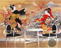 ingrosso rotolo decorativo di carta da parati-Japanese Design Photo Wallpaper Murale Carta da parati 3D Rotoli Negozio Ristorante Parete decorativa papel murale papier peint murale 3d