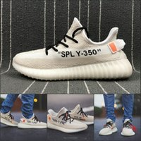Wholesale Grey Market - 2018 Boost V2 350 Kanye West Joint Off X For Men Women Running Shoes New market new color Best Quality Sport Sneakers
