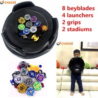 Wholesale beyblade 4d metal master for sale - Beyblade arena stadium Metal Fusion D Freies System Battle Metal Top Fury Masters launcher and grip children toy