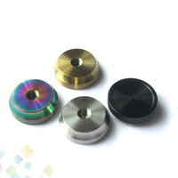 Wholesale rba holder resale online - Stainless Steel Base Metal Holder Stand with Screw thread Suit for RDA RBA Tank Atomizers MM diameter E Cigarette