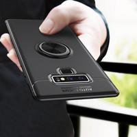 галактика автомобильный держатель оптовых-Для Samsung Galaxy Note 9 Case автомобильный держатель стенд магнитный кронштейн кольцо TPU Cover Case для Samsung Note 8 Case Funda Coque Капа