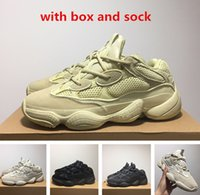 Wholesale boxed blush - 500 Blush Desert Rat 500 Super Moon Yellow running shoes 500 Utility Black sneaker sports shoes with box free shipping