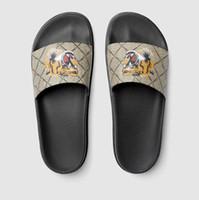 ingrosso sandali estivi donna europee-Europa Uomo Scarpe Estate Donna tigre stampa Pantofole Moda Pantofole da spiaggia Genuine Top Quality Donna Uomo Pantofole sandali casual taglia us5-11