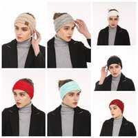 Wholesale Crochet Head Bands - CC Knitted Women Stretch Twist Headbands 10 Colors Turban Girl Head Band Crochet Winter Warmer Wide Ear Hairband Hair Accessories OOA4145