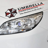 Wholesale umbrella decals for sale - Group buy Car Styling Umbrella Corporation Sticker Shield mark Car Sticker Removeable car stickers Resident Evil decals emblem decorations badge