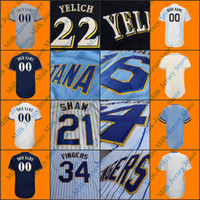 Wholesale Cooper Manning - Milwaukee Throwback Jersey Bud Selig Paul Molitor Cecil Cooper Robin Yount Hank Aaron Bob Uecker Prince Fielder Rollie Fingers Bob Uecker