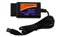 porsche оптовых-ELM327 USB пластик ELM327 RS232 Com OBD2 лучшее качество бесплатно Epacket сообщение OBDII может автобус