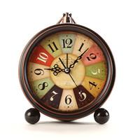 aiguilles d'horloge analogique achat en gros de-Vintage Retro Fashioned Calme Non-coutil Balayage Seconde Main, Quartz Analogique Grand Bureau Horloge