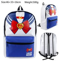 sailor moon juegos al por mayor-Hot Anime Game Movie Mochila Sailor Moon Estudiantes mochila de la escuela Fancy Canvas Backpack mejor regalo