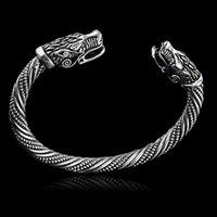 wolfskopf armbänder großhandel-LAKONE Teen Wolf Kopf Armband Indische Schmuck Mode-Accessoires Viking Armband Männer kreative Armband 224