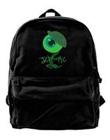 mochila de viaje mochila al por mayor-Jack Septic Eye lona hombro mochila mochila para hombres mujeres adolescentes College Travel Daypack negro