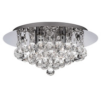 Wholesale deco light fixture - New Modern round Crystal Ceiling Light Fixtures K9 Crystal rain dorp for living room Bedroom Lighting Fixtures Dia40*H25cm