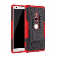 Wholesale xperia protective cover - For Sony Xperia XZ2 Case Rugged Combo Hybrid Armor Bracket Impact Holster Protective Cover Case For Sony Xperia XZ2
