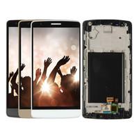 touchscreen für lg g3 großhandel-Für lg g3 lcd display touch panel digitizer w / frame assembly für lg g3 d850 d851 d855 ersatzteile