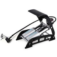 aufblasbare fußpumpe großhandel-INBIKE Radfahren Bike Hochdruck Reifen Luft Aufblasbare Pumpe Fußpumpe mit Manometer Für Auto
