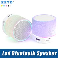 Wholesale x mini speakers - ZZYD Wireless Led Bluetooth Speaker Portable A9 mini Loudspeakers Support TF SD Card Music player For iPhone X Note8 Smart Phone