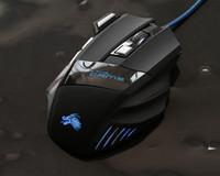 optische maus neue led großhandel-Neue Heiße Professionelle 5500 DPI Gaming Mouse 7 Tasten LED Optische USB Verdrahtete Mäuse für Pro Gamer Computer X3 Maus Besten Preis