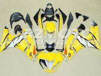 Wholesale Kawasaki 636 Motor - New ABS Plastic Motor Full Fairings Kits Fit For kawasaki Ninja ZX6R ZX-6R 636 2009 2010 2011 2012 09 10 11 12 6R Bodywork set yellow