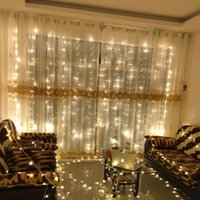 Wholesale window color lights for sale - Group buy LED Light Up Window Curtains Ice Strip Waterfall Merry Christmas Supplies Festive Birthday Party Decoration Lamp String Pure Color ly bb