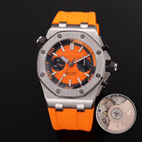 Wholesale delicate watches - New Mens Watch ROYAL Rubber Strap Automatic Imported Mechanical 42mm 316 Delicate Steel Case Men Watches Transparent Back Wristwatch
