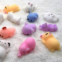 Wholesale Cat Squeeze - Squishy Slow Rising Jumbo Toy Bun Toys Animals Cute Kawaii Squeeze Cartoon Toys Mini Squishies Cat Squishiy Fashion Rare Animal Gifts Charms