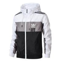 ingrosso giacca pubblicitaria-Giacche da uomo di marca AD Vendita calda Giacca da uomo sottile Giacca di marca Slim Giacche di bomber con cappuccio Taglia L-4XL