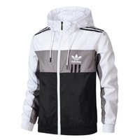 рекламная куртка оптовых-Бренд объявление мужчины куртки горячие продажа тонкий ветровка куртка мужчины Марка тонкий с капюшоном бомбардировщик куртки размер L-4XL