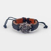 tartaruga de couro venda por atacado-Atacado Lote 12 pcs Tartaruga Marinha de Couro Preto Surfer Pulseira Fine Jewelry