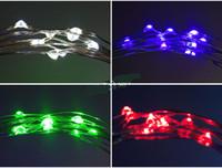 ingrosso rame di luce della stringa della batteria-2M 20LEDs LED String String CR2032 Batteria a LED Luci a filo di rame String Light Natale Decorazione di Halloween Festa di nozze