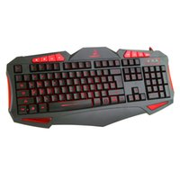 switch gaming groihandel-USB Wired Backlit Gaming-Tastatur für Gamer Switch 7 Farbe Wasserdicht Cool Game Keyboard Mechanisches Gefühl für PC Für Home Office