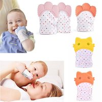 Wholesale toddler toys for sale - Group buy Safe Silicone Teether Gloves Baby Pacifier Gloves Toddler Nursing Teething Glove Toys Teether Chewable Glove Infant Sound Toys MMA1066