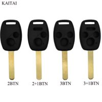 télécommandes honda civic key achat en gros de-KAITAI Car Remote Key Shell Pour HONDA Accord Civic CRV Pilot Pour 2007 2008 2009 2010 2011 2012 2013 Porte-clés