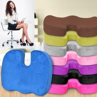 Wholesale red office chairs for sale - Group buy Memory cotton cushion Office Chair pad Car Seat Pillow Cushion Back Pain Sciatica Relief Pillow Sofa Cushion travel Sponge Cushions WX9