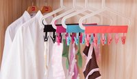 Wholesale cloth towels clothing for sale - Group buy 120pcs Hot Multifunctional Portable Cloth Hanger Drying Rack Foldable Bathroom Rack Travel Clothespin Clip Hanger Towel Socks Hanger Clip