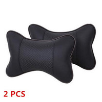 Wholesale warming seat cushion - Car seat head cushion car seat headrest winter car headrest leather auto supplies neck Warm Auto safety