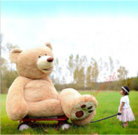 ingrosso bambola di orsacchiotto gigante-Lovely Great gift Giant big teddy Bear peluche bambole di peluche 100cm-200cm Per il regalo di Natale Birtherday