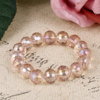 браслеты детей браслет оптовых-Fashion Pink Clear Nature Stone  Bracelets Colorful Kids Children Love Bracelet Bangle Party Women Men  Bracelet Femme